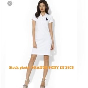 Ralph Lauren ORANGE Big Pony Tennis Dress